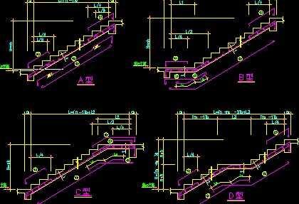 cad设计楼梯图纸三步转角肿么画