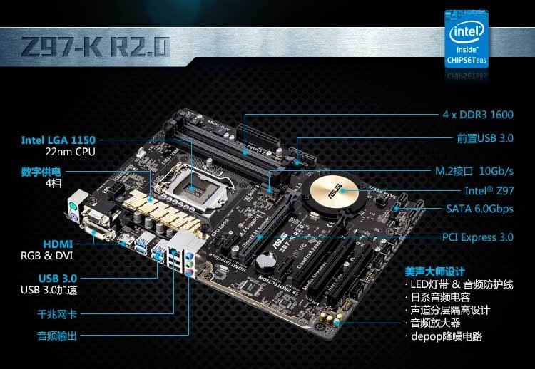 华硕z97-k主板m.2接口是走什么协议的