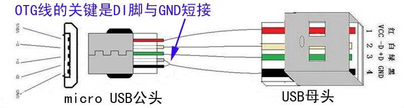 自制otg数据线,应当怎么接线?