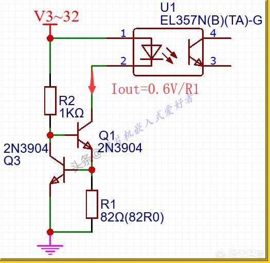 如何设计一个恒流源电路作为光耦输入端的控制电路?