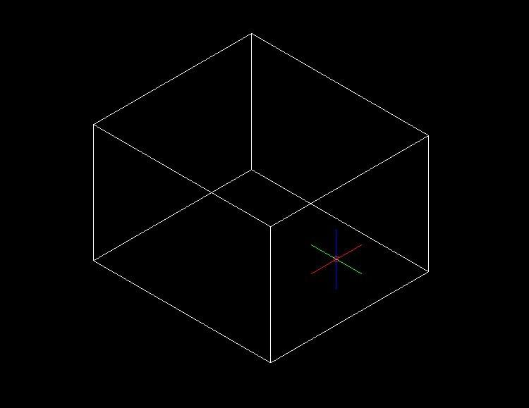 cad中如何绘制三维立体图形方框?
