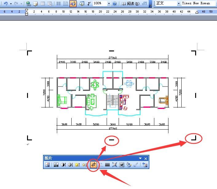 我把CAD图直接复制调出到WORD2007后,cad偏移挑选怎么图片
