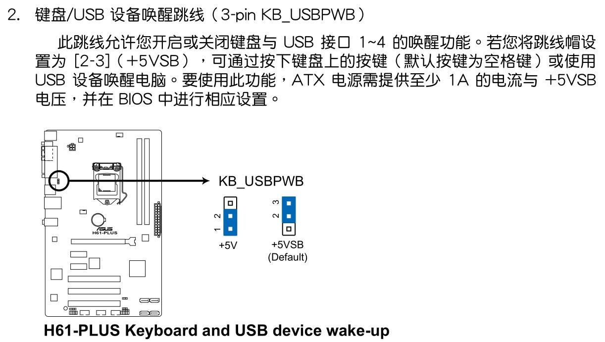 华硕h61主板肿么用键盘开机