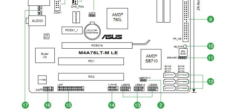 华硕主板p5ql/epu 开机线 和 重新启动线怎么接啊