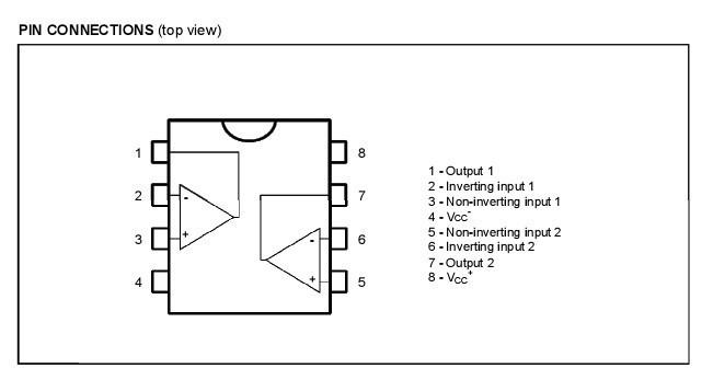 上图为tl062c芯片引脚图.下图为芯片内部电路图.