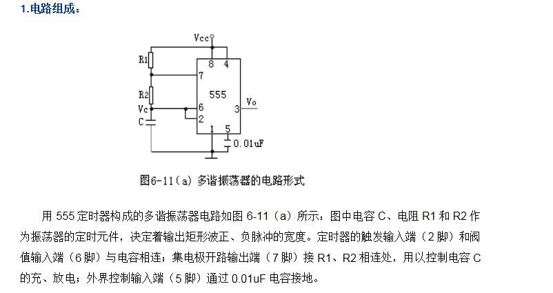 555定时器构成的多谐振荡器怎么改变周期和占空比
