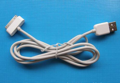 苹果手机数据线断了,联接电源的那头,4根线,黑白红绿怎么接