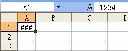在excel表格单元格中输入一段文字,点保存后变成#######号。