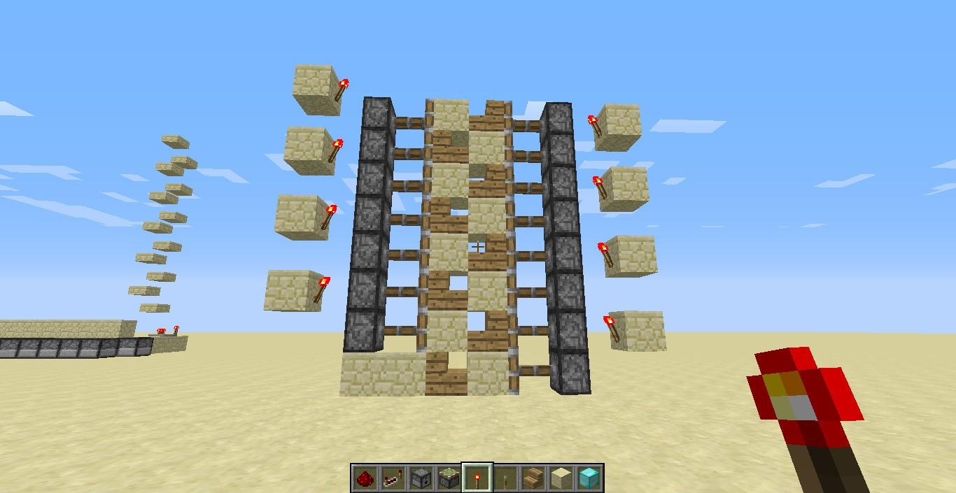 我的世界电脑版怎样做籽岷那种电梯