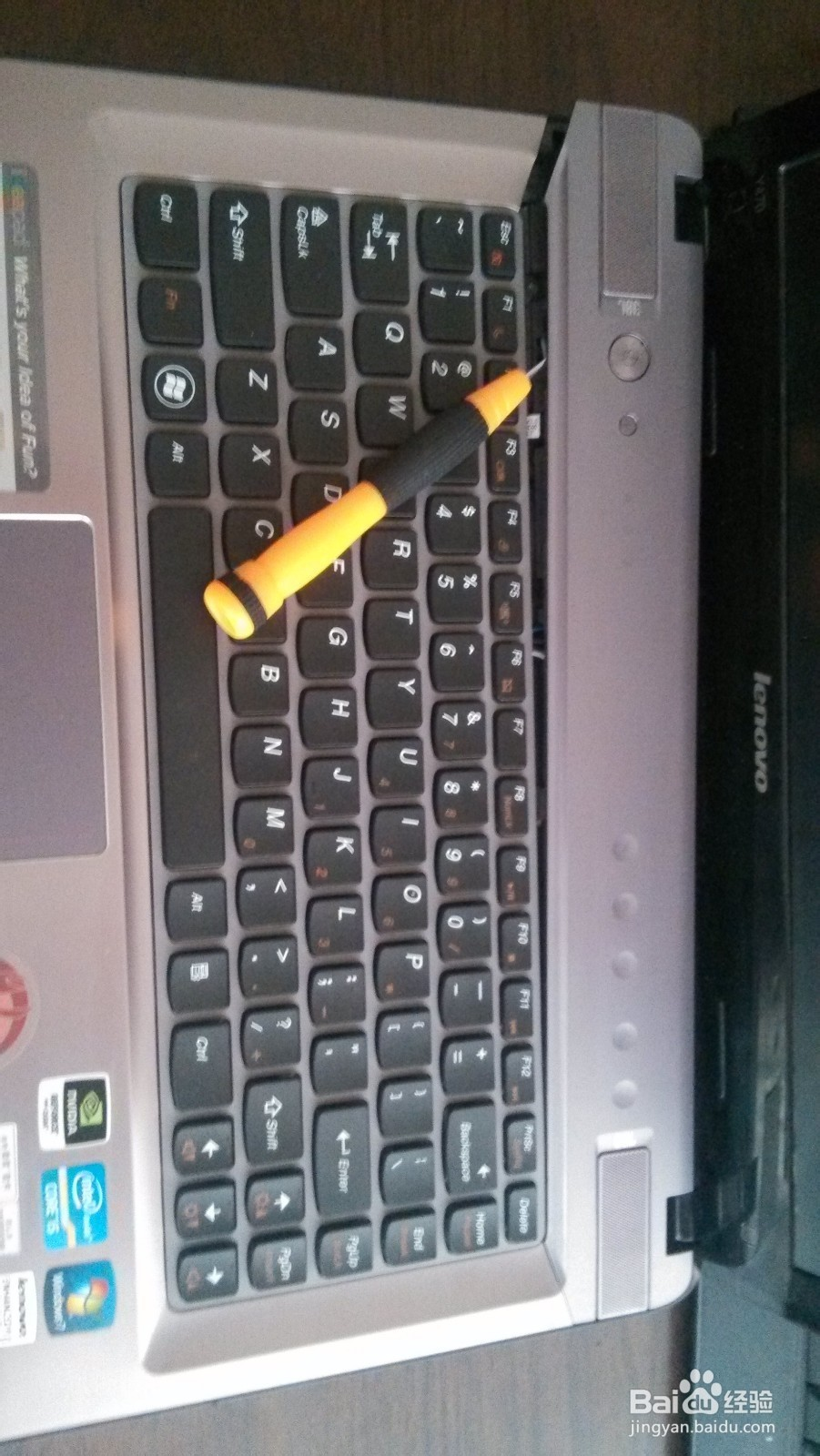 联想笔记本Y470更换键盘教程