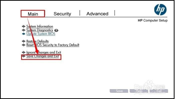 惠普商用笔记本UEFI BIOS,如何开启关闭USB端口