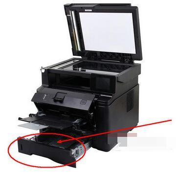 HP LaserJet M1005 MFP打印机怎么装纸