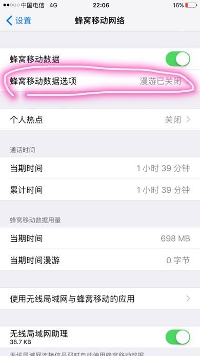苹果手机怎样选择3g和4g网络