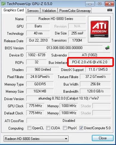 显卡是用GPU-z 看显示是PCI 但我能使用PCI-e X 16 的吗?