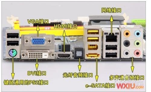 电脑后面3个音频插孔是干嘛的 红绿蓝 我前面的两插口坏掉了耳机要插后面的 可后面有三个 该肿么插?