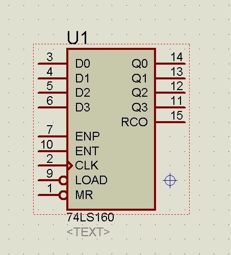 74ls160芯片的引脚图及作用