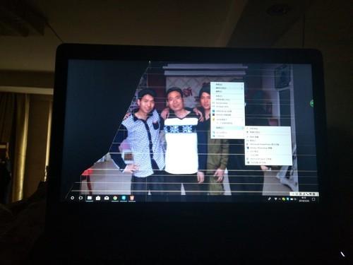 笔记本电脑不小心摔了一下,正常开机就这样了,问题出在哪里...