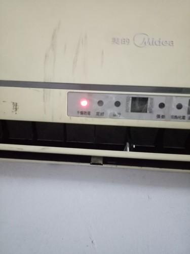 美的空调KF-26GW/Y-HA(E5)遥控关机了,怎么内机不停啊???...