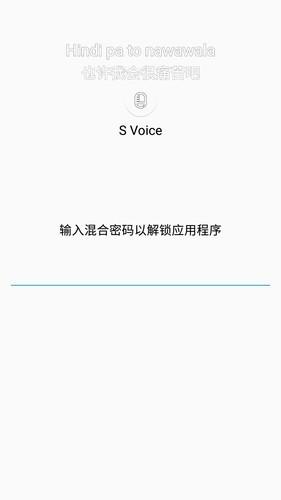 三星c5的S Voice 为什么要混合密码,密码是多少?