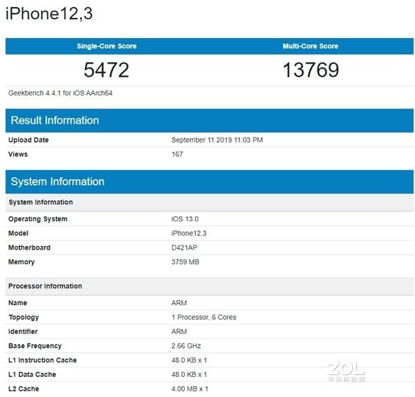 iPhone 11搭载的A13处理器有多强?