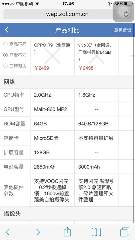 oppor9和vivox7哪个值得买?