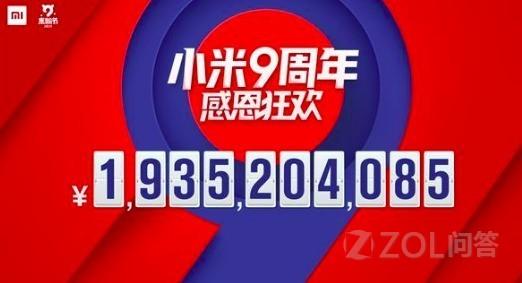 一天狂卖19.3亿元 小米9周年米粉节你贡献了多少?