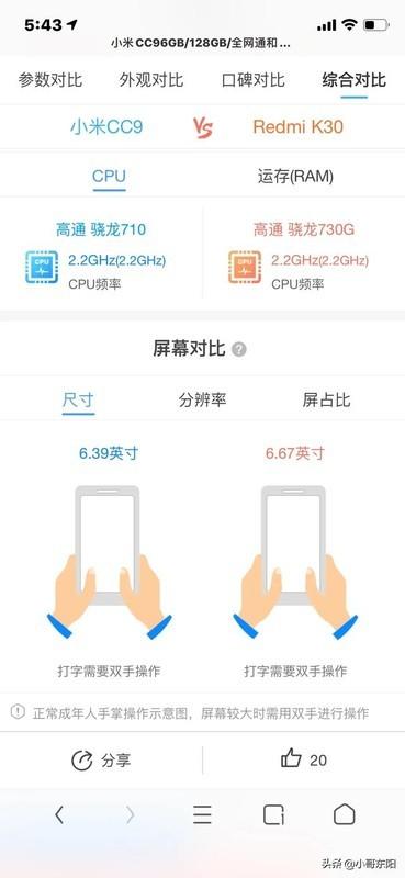 小米CC9和红米K30 4G版哪个好?