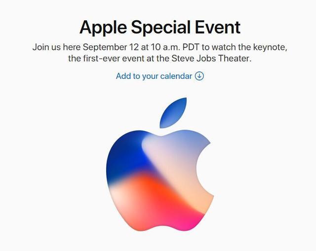 iPhone8确定9月12日发布了?