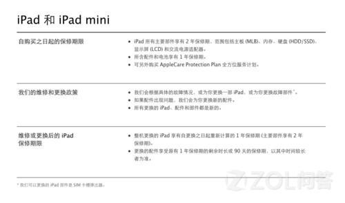 现在港版iPad保修几年?