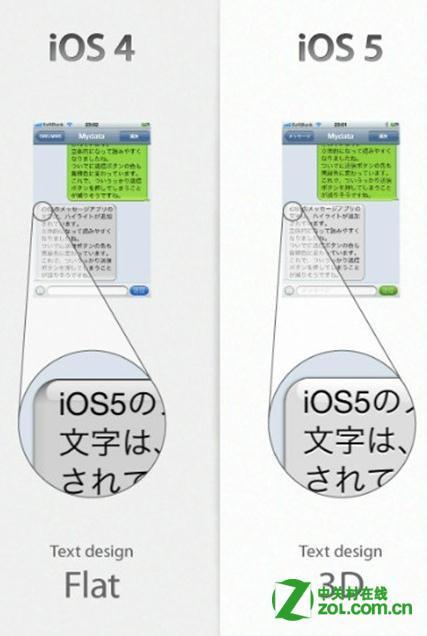 IOS5 和 IOS4 在UI上有什么不同?
