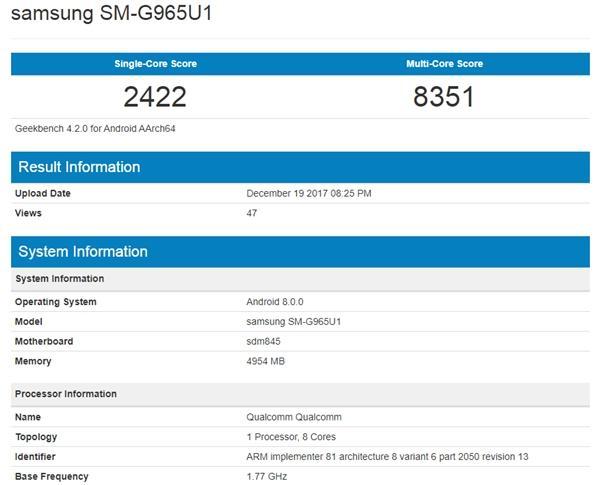 骁龙845跑分曝光了吗?比苹果A11怎么样?