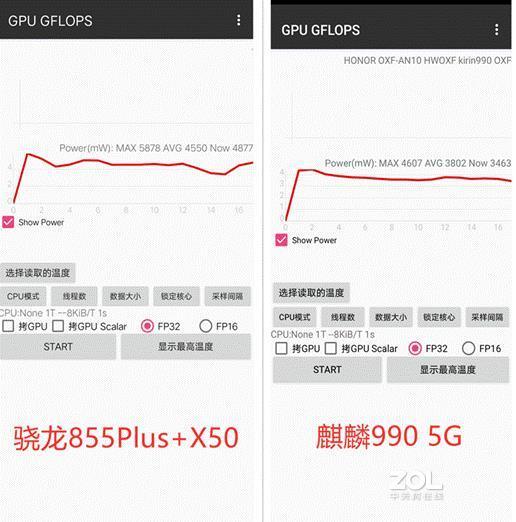 5G网络麒麟990与骁龙855+谁更省电?