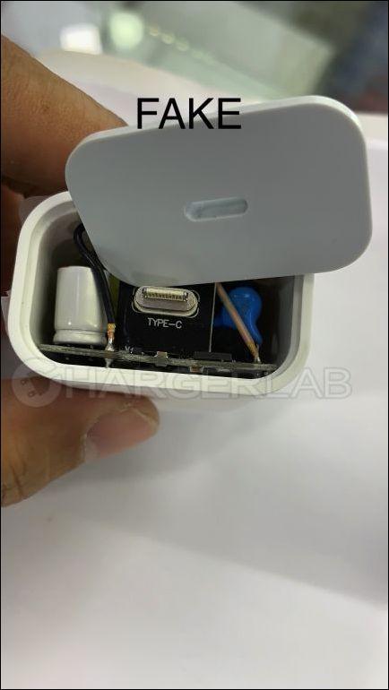 怎样分辨真假苹果18W USB PD充电器?